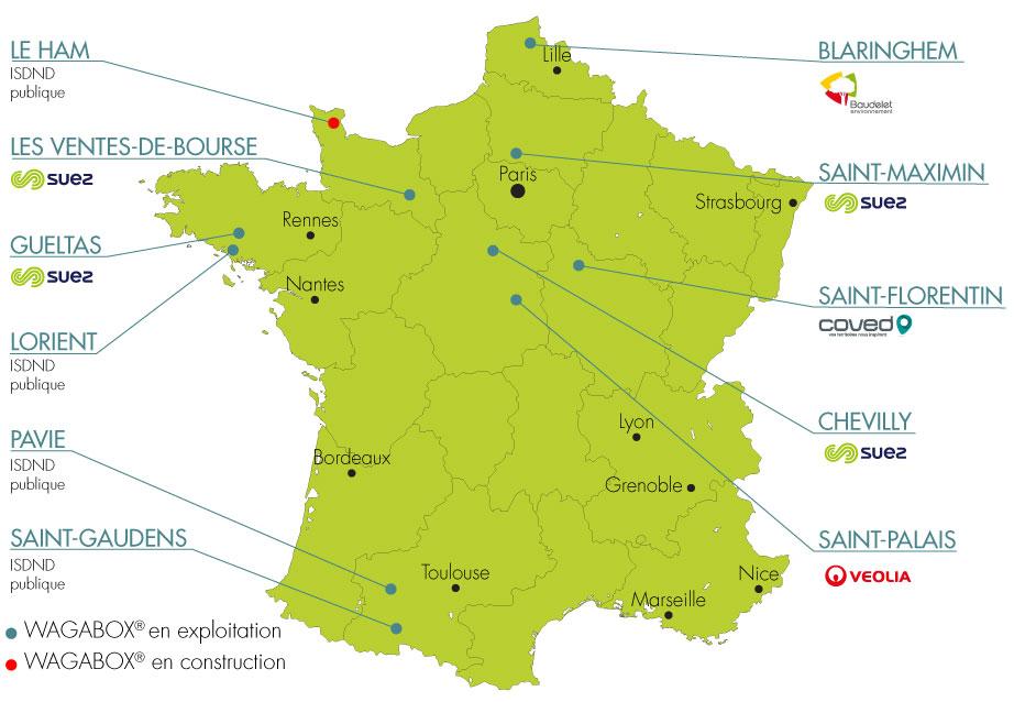 Carte de France des Wagabox