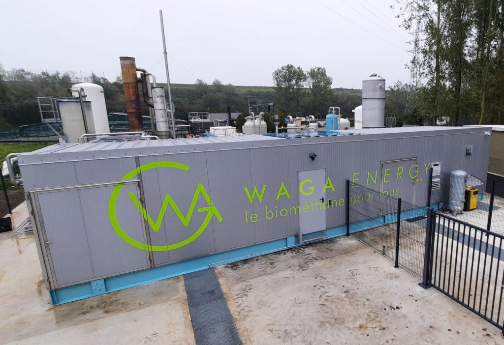 Unité WAGABOX® pour le traitement du biogaz sur le site de Baudelet Environnement