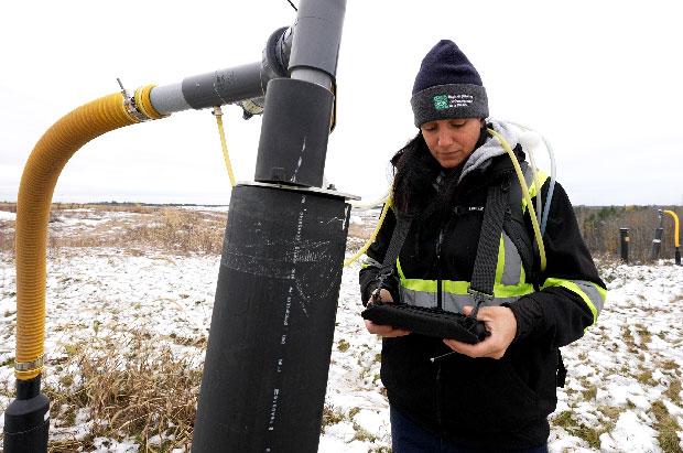 Measuring landfill gas composition