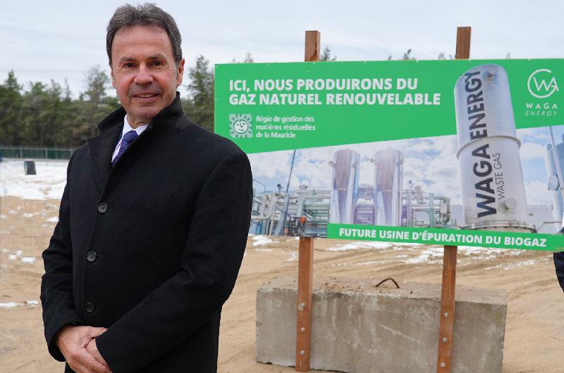 Projet d'injection de gaz naturel renouvelable sur le site d'enfouissement des déchets de Saint-Étienne-des-Grès au Québec