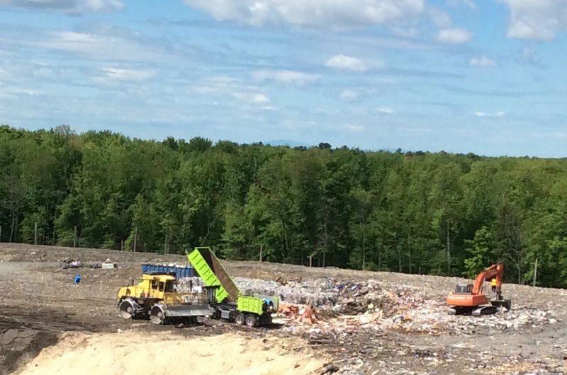 Cowansville's landfill stores 75 000 tons of waste per year.